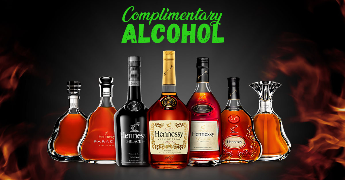 Complimentary Alcohol